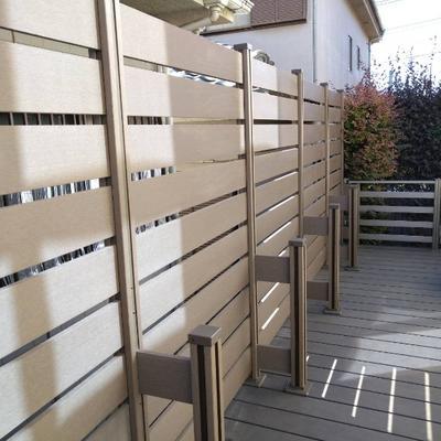 浦和区 高さ1800のウッドデッキ用フェンスを設置しました