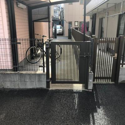 北区 ブロック塀を撤去して門扉設置工事