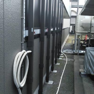 三郷市 侵入防止用フェンスの設置工事